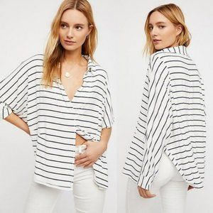 We the Free People Can't Fool Me Striped Tee S